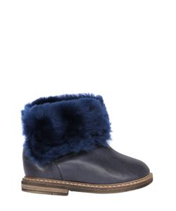 Pom D'Api | Shearling And Leather Boots