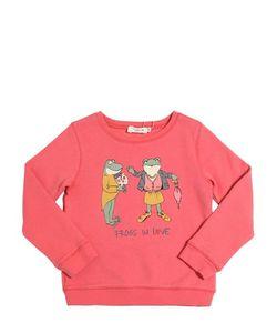 Nice Things Mini | Frogs In Love Print Cotton Sweatshirt