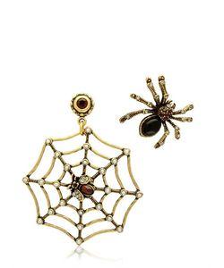 Alcozer & J   Spider Web Earrings