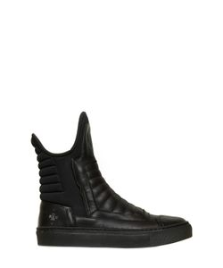 BRUNO BORDESE NEXT GENERATION | Neoprene Leather High Top Sneakers