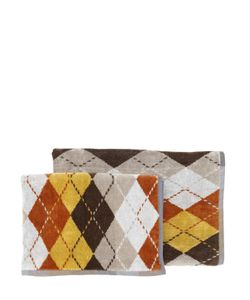 CARRARA | Polo Set Of 2 Argyle Cotton Towels