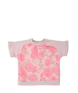 ANNE KURRIS | Lurex Jacquard Cotton Sweatshirt