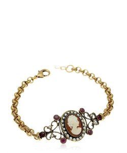 Alcozer & J   Cameo Chain Bracelet