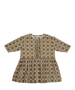 CARAMEL BABY AND CHILD   Long Sleeve Square Printed Cotton Dress