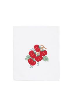 LORETTA CAPONI | Embroidered Tomatoes Kitchen Towel