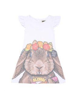 Madson Discount | Rabbit Printed Cotton Blend Jersey Dress