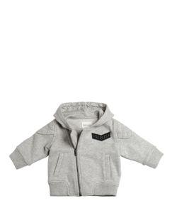 Diesel Kids   Hooded Cotton Sweatshirt With Logo Patch
