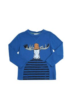 Little Marc Jacobs | Printed Cotton T-Shirt W/ Elbow Patches