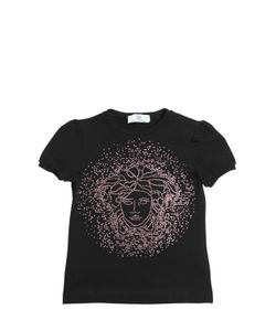 Young Versace | Embellished Cotton Jersey T-Shirt