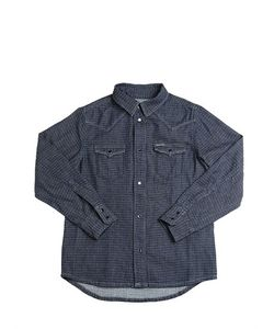 Diesel Kids | Cotton Pin-Dot Western Shirt