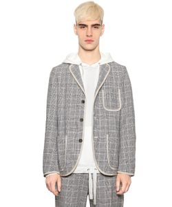 08SIRCUS | Houndstooth Cotton Linen Blazer