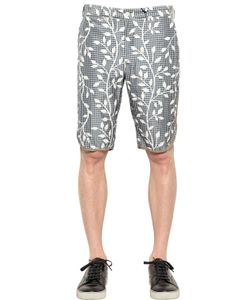 08SIRCUS | Silk Blend Canvas Shorts
