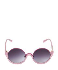 3.1 PHILLIP LIM X LINDA FARROW   Half Acetate Frame Round Sunglasses