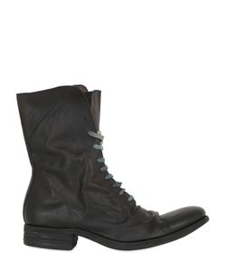 A DICIANNOVEVENTITRE | Washed Leather Lace-Up High Boots