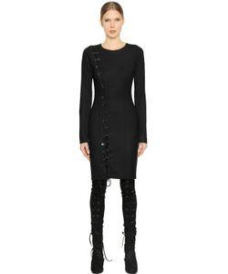A.F.Vandevorst | Lace-Up Stretch Virgin Wool Dress