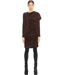 A.F.Vandevorst | Draped Stretch Silk Crepe De Chine Dress