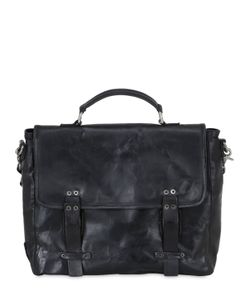 A.S.98 | Vintage Effect Leather Briefcase