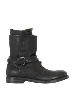 A.S.98 | Zip Buckle Buttons Leather Boots