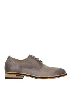 A.S.98 | Washed Leather Derby Lace-Up Shoes