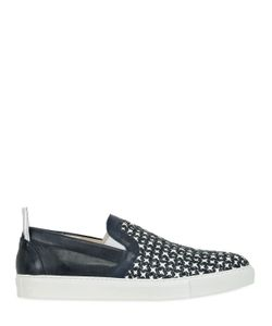 Abisso Milano | Woven Nappa Leather Slip On Sneakers