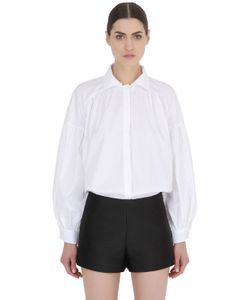ACIEL | Cotton Poplin Shirt With High Collar