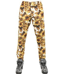 ADIDAS BY JEREMY SCOTT | Gold Flower Print Acetate Track Pants
