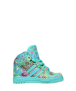 ADIDAS BY JEREMY SCOTT | Floral Faux Leather High Top Sneakers