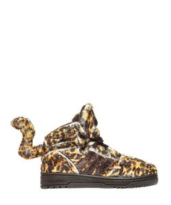 ADIDAS BY JEREMY SCOTT | Leopard Printed Plush Sneakers