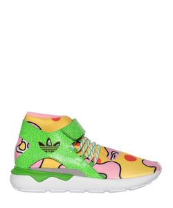 ADIDAS BY JEREMY SCOTT | Js Tubular Floral Mid Top Sneakers