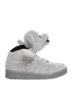 ADIDAS BY JEREMY SCOTT | Bear Synthetic Lame High Sneakers