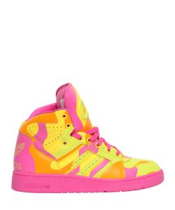 ADIDAS BY JEREMY SCOTT | Camo Leather High Top Sneakers