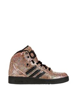ADIDAS BY JEREMY SCOTT | Python Printed Leather High Top Sneakers