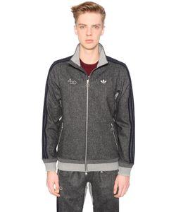 adidas Originals | Fourness Zip-Up Wool Blend Sweatshirt