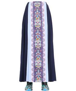 ADIDAS X MARY KATRANTZOU | Pleated Color Blocked Mesh Skirt