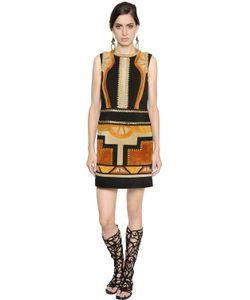 Alberta Ferretti | Patchwork Suede Dress