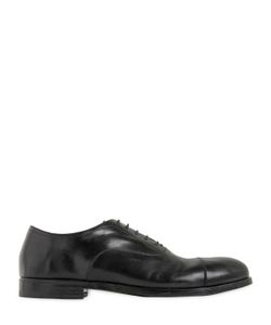 Alberto Fasciani | Brushed Leather Oxford Lace-Up Shoes