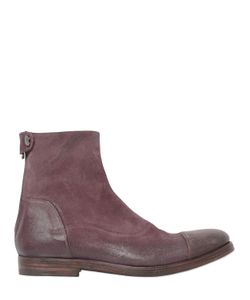 Alberto Fasciani | Washed Reversed Leather Ankel Boots