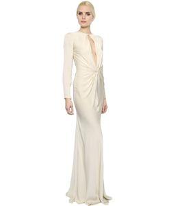 Alexander McQueen | Knot Detail Draped Satin Dress