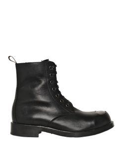 Alexander McQueen | Metal Toe Leather Combat Boots