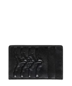 Alexander McQueen | Rib Cage Embossed Leather Card Holder