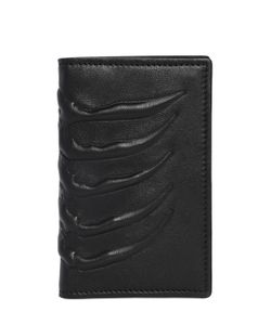 Alexander McQueen | Rib Cage Folded Leather Card Holder