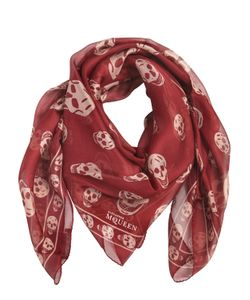 Alexander McQueen | Classic Skull Print Silk Chiffon Scarf