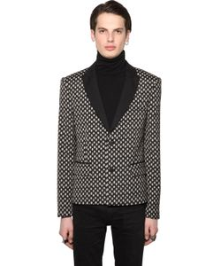 ALL APOLOGIES | Polka Dot Cool Wool Jacquard Jacket