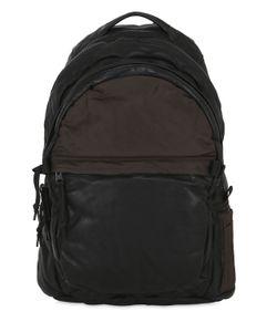 ALLSAINTS | Shoto Soft Leather Nylon Backpack