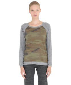 Alternative | Printed Cotton Blend Jersey Sweatshirt