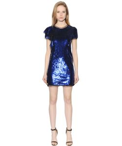 Amen | Short Sleeves Sequined Tulle Dress