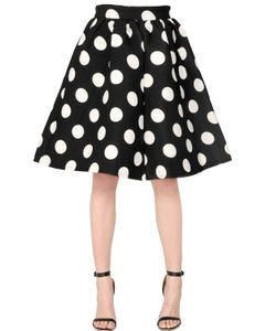 AMUSE | Polka Dot Printed Crepe Neoprene Skirt
