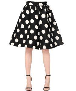 AMUSE   Polka Dot Printed Crepe Neoprene Skirt