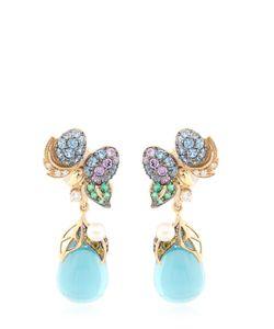 Anabela Chan | Berry Drop Gold Earrings