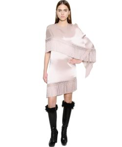 Andrew Gn | Fringed Layered Satin Dress